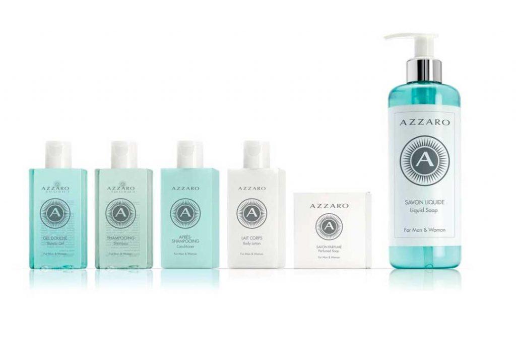 La nueva imagen de la colección de amenities Azzaro,