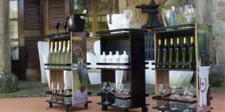 Carrito – mueble bar para el servicio de coctelería y vinos