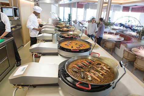 Paelleros Mimcook en el restaurante Maná 75 Barcelona