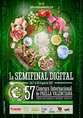 Cartel de la semifinal digital del Concurso de Paellas de Sueca