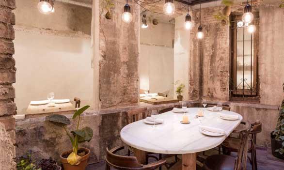 Sala del restaurante Fismuler
