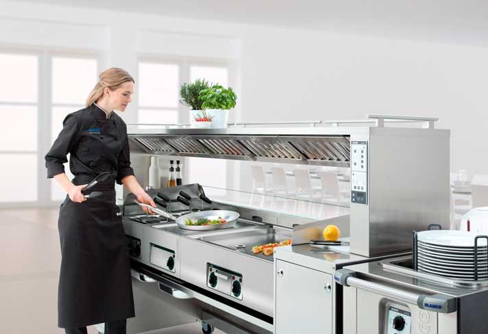 Estación de front cooking Blanco Cook