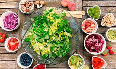 Ensalada y sus ingredientes
