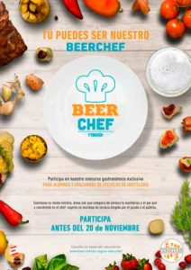 Cartel del concurso Beer Chef