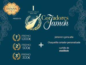 Cartel del concurso online de cortadores de  jamón