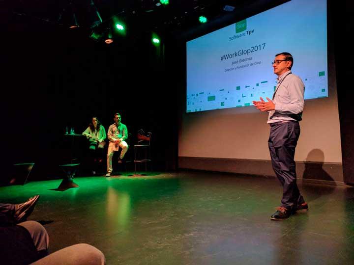 José Biedma, socio fundador de Mobisoft, en la presentación de Glop