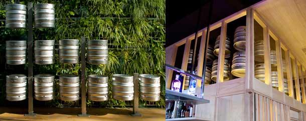 Sistema de ordenamiento de barriles de cerveza de Air Garden