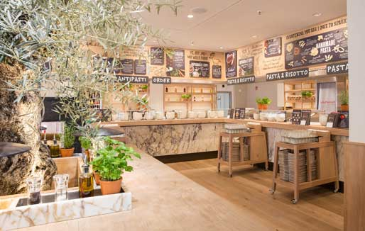 Restaurante Vapiano en Barcelona