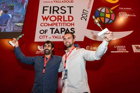 Los campeones del Concurso Nacional y del Mundial de Tapas de Valladolid