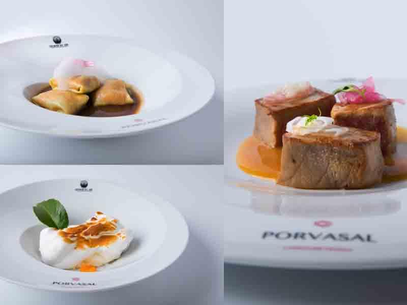Los tres platos elaborados por Dani García, del restaurante Aboiz, segundo finalista
