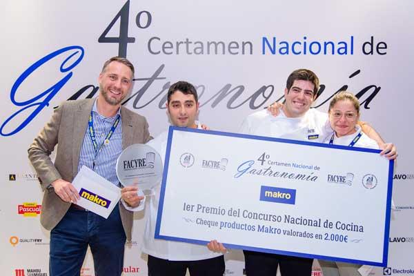 Los ganadores del Concurso Nacional de Cocina facyre