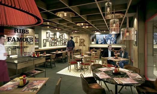 Interior del nuevo del nuevo Tony Rom'a en la Gran Vía madrileña