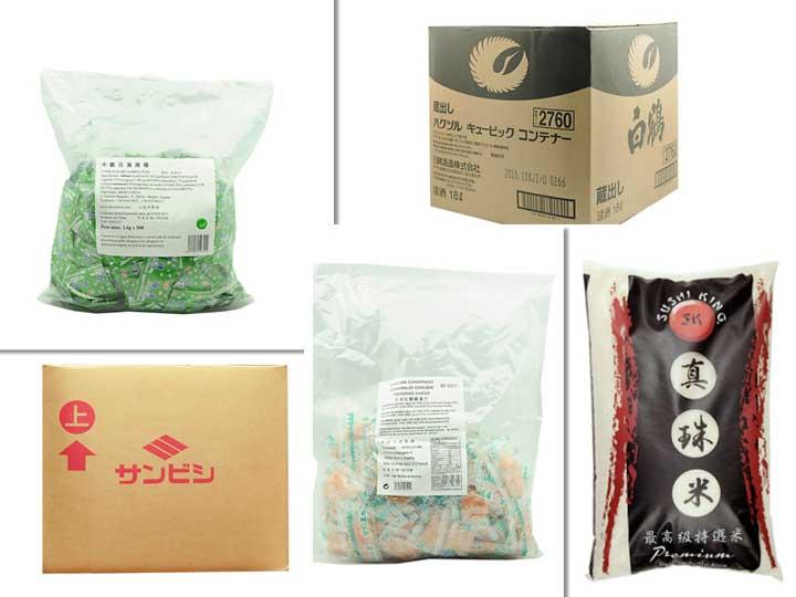 Referencias de productos para la cocina asiática en formato para hostelería