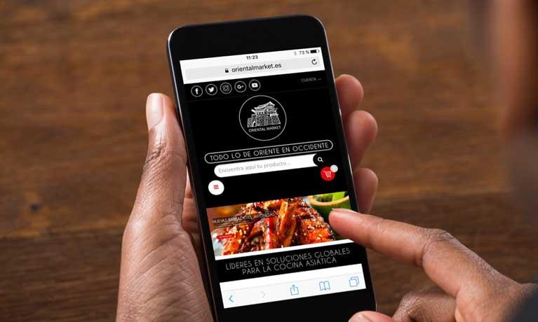 Web móvil de Oriental Market