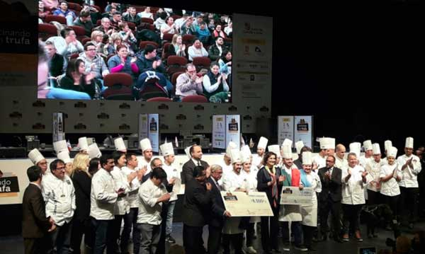 Entrega de premios del concurso internacional Cocinando con Trufa