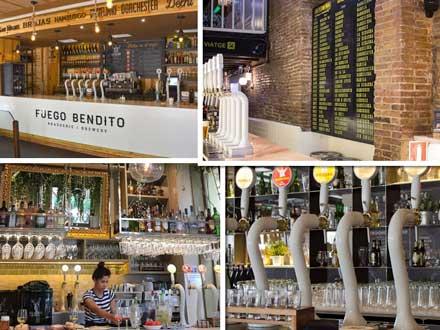 Algunos de los locales hosteleros donde se ofrece la experiencia cervecera Tap Station de San Miguel