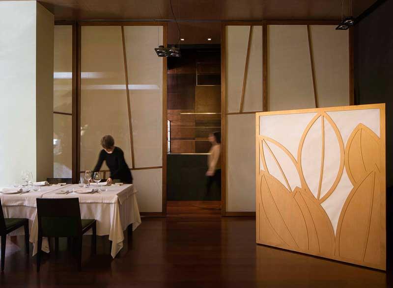 La sala del restaurante Apicius