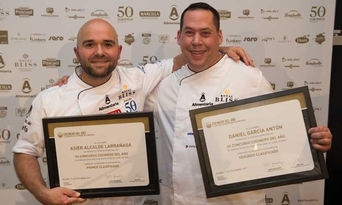 Asiel Alcalde y Dani García, los cocineros ganadores de la tercera semifinal de Cocinero del Año, celebrada en Bilbao
