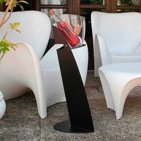 El pie Mistral en negro, con cubitera Nature transparente, todo de Koala