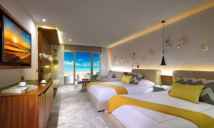 Una de las junior suites del Grand Palladium Costa Mujeres Resort & Spa