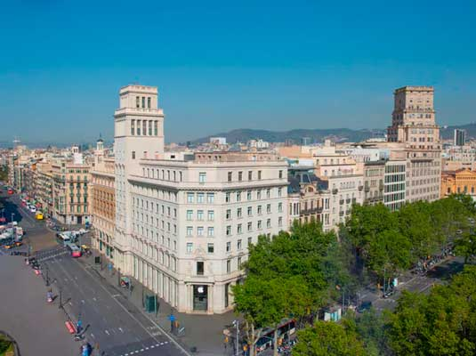 El edificio del Iberostar Paseo de Gracia, primer hotel de Iberostar en Barcelona