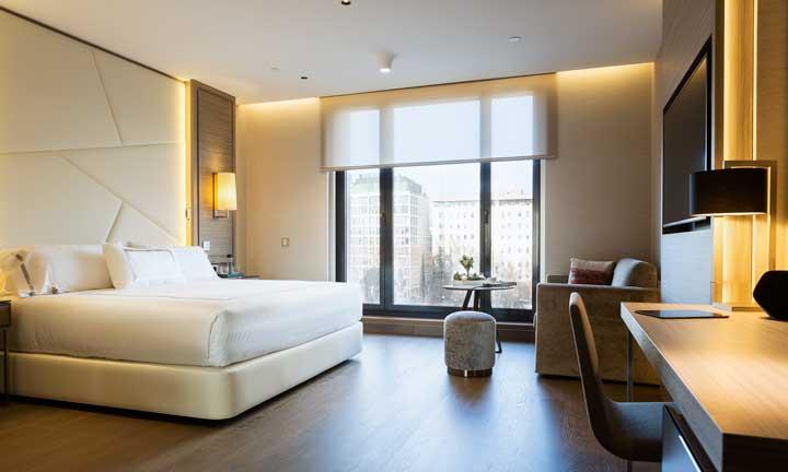 Una de las habitaciones del El hotel VP Plaza España Design