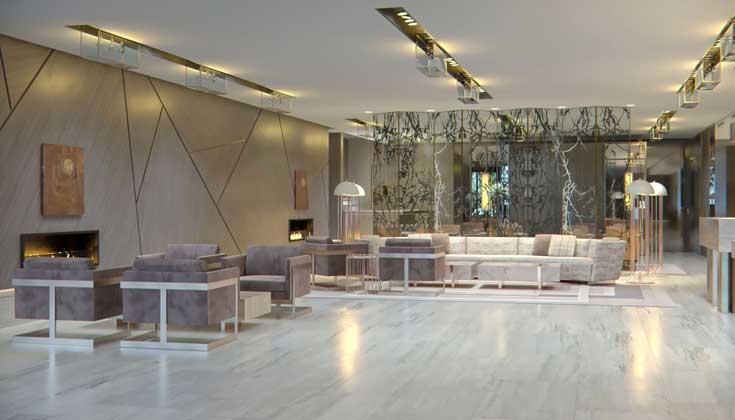El vestíbilo del hotel VP Plaza España Design