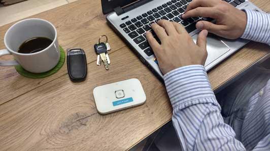 Conectado al wifi con WifiAway