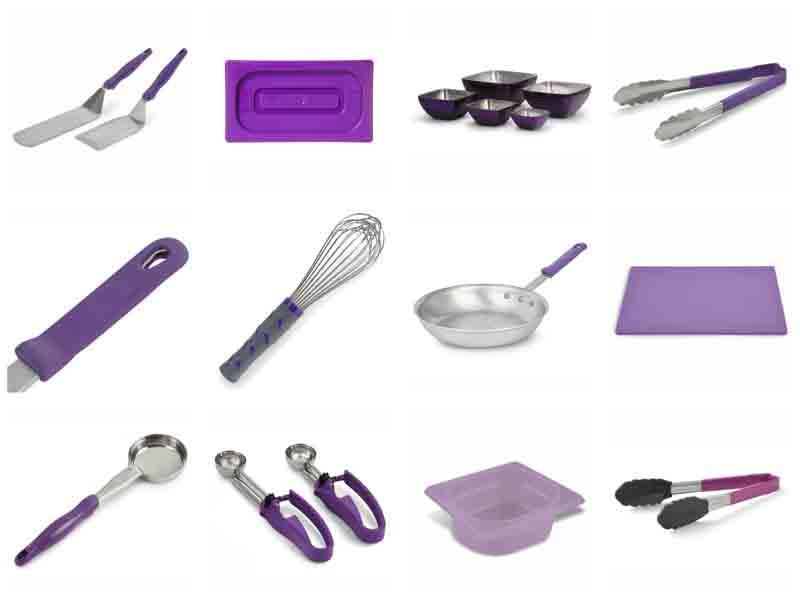 Kit antial rgico utensilios para preparar y servir for Utensilios para servir comida