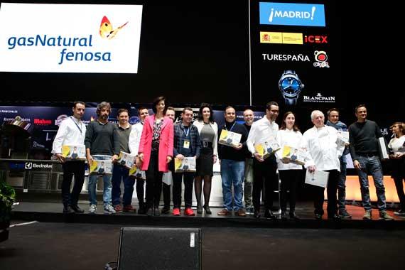 Chefs integrantes del Círculo de Restaurantes por la Eficiencia Energética, en madrid Fusión 2018