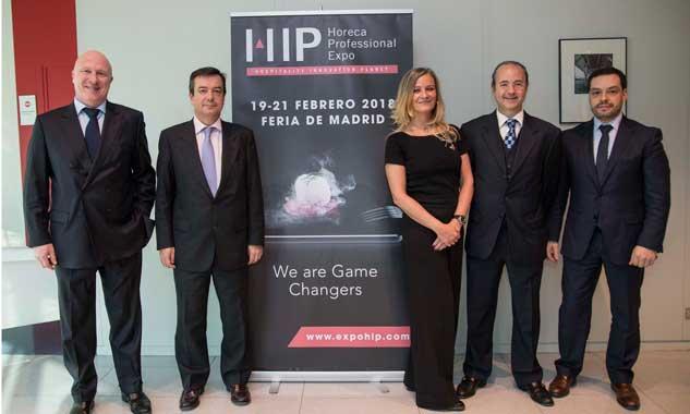 Directivos en la presentación oficial de HIP 2018