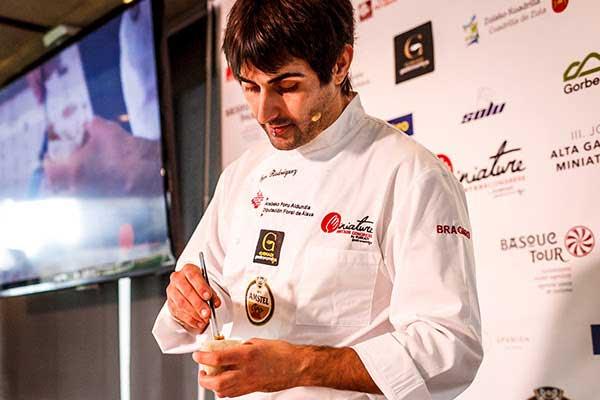 Igor Rodríguez, ganador del Campeonato de España de Pintxos en Valladolid 2017