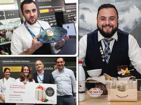 Los ganadores de los tres concursos Lactalis en Madrid Fusión 2018