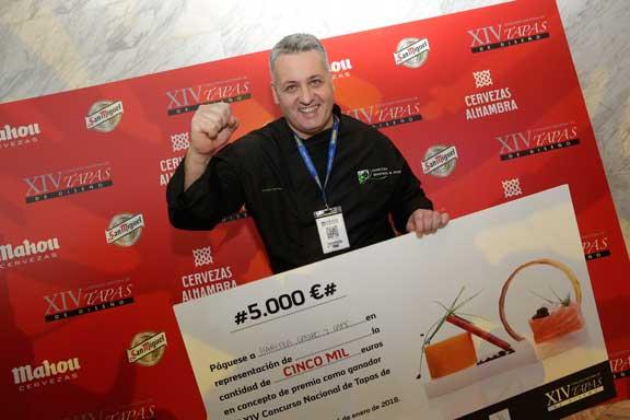 Manuel Eduardo, ganador del concurso de Tapas de Diseño en Madrid Fusión 2018