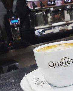 Taza del restaurante Qualery en el restaurante Volcanes
