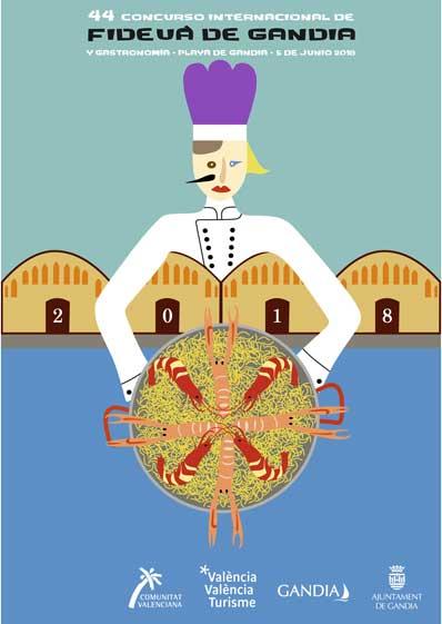 Cartel del 44 Concurso Fideuá de Gandía