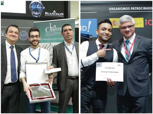 Recibiendo premios de los concursos gastronómicos de Madrid Fusión 2018