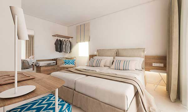 la nueva habitación, totalmente reformada, del hotelSky Bel Hotel By BlueBay