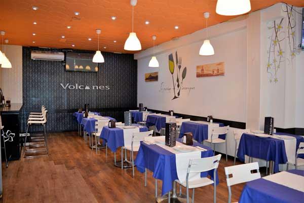 La sala del restaurante Volcanes, en Madrid