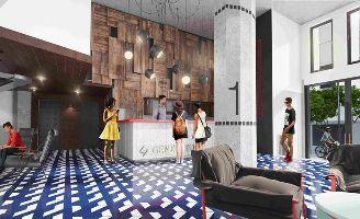 profesionalhoreca vestíbulo del hostel Generator Madrid