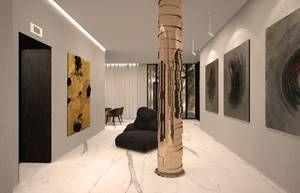 profesionalhoreca hall con obras de arte del hotel Pavilions Madrid