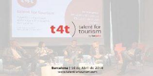 El congreso t4t – Talent For Tourism mostrará los nuevos modelos y canales de venta del sector turístico