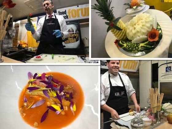 La Escuela Superior de Hostelería Bilbao ha estado presente en Food Truck Forum realizando diferentes talleres