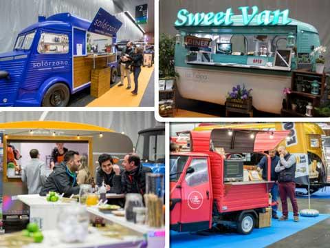 Diferentes food trucks en el Food Truck Forum 2017