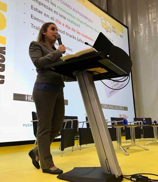 Leire Pérez, en su intervención en el Food Truck Forum 2018