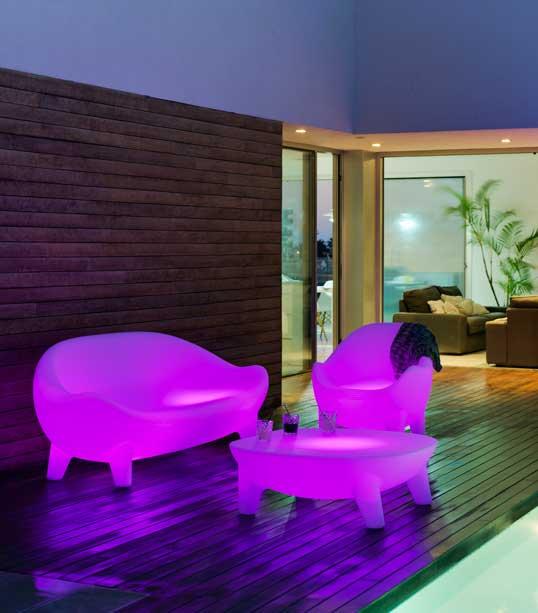 Muebles con luz de Newgarden