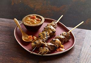Brochetas de Tanzania con carne mishkaki