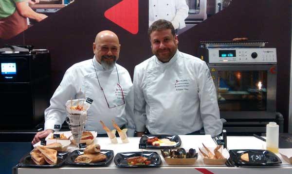 Chefs corprativos de Welbilt en el stand del Food Truck Forum
