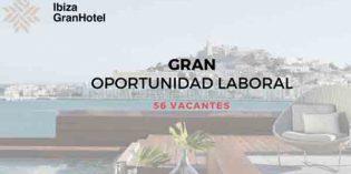 Oferta de empleo en el Ibiza Gran Hotel: 56 puestos de trabajo
