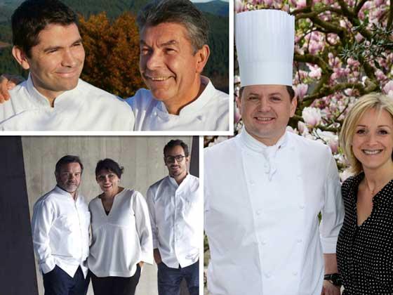 Chefs de los tres restaurantes ganadores de la lista OAD 2018 de los mejores restaurantes clásicos de Europa